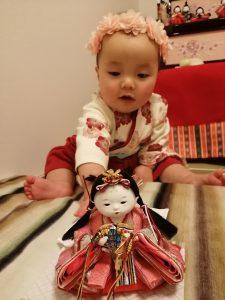 とてもかわいい雛人形でした。