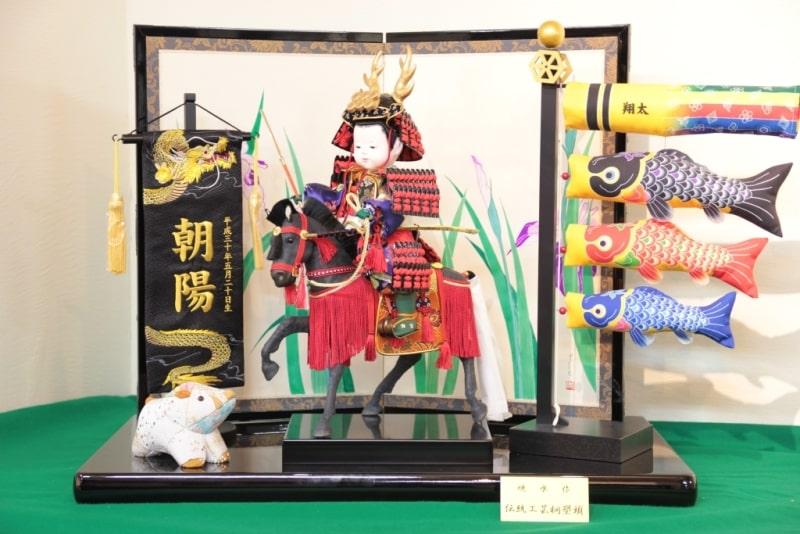 お子様が真田幸村の五月人形に!職人がお顔を似せてお作りいたします